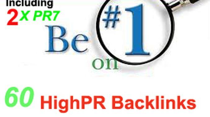 manually blog 60 actual highPR backlinks on PR7 to PR3