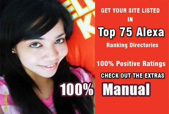 submit to Top Alexa Ranking 75 Sites Manually