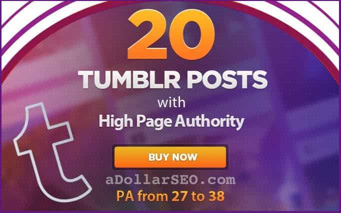 20 High PA Tumblr Posts + Articles - From 27 to 38 Page Authority Blogs