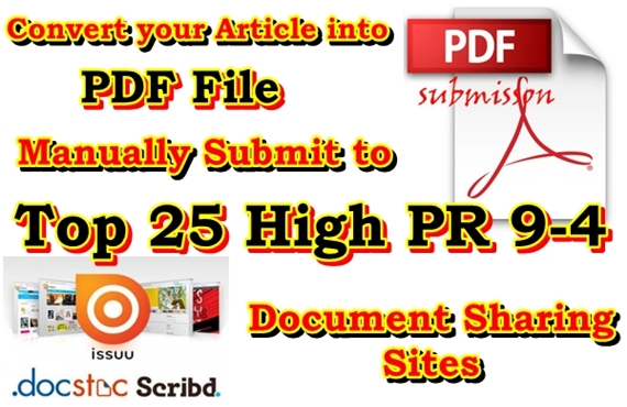 Manually submit your article to the Top 25 PDF Sharin...