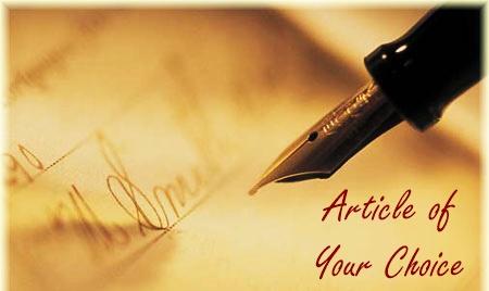 Handing over creative relevant article