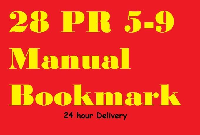 I will manually create 28 PR 5to9 bookmark