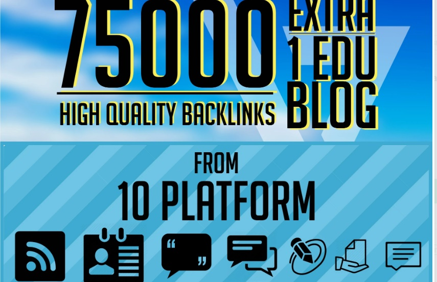 U ill get 7500 Backlinks Blaster From 5 Platforms To Your Website For Search Engine
