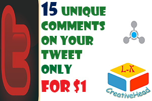 Will manually add high quality 15 unique comments  on your tweet  only