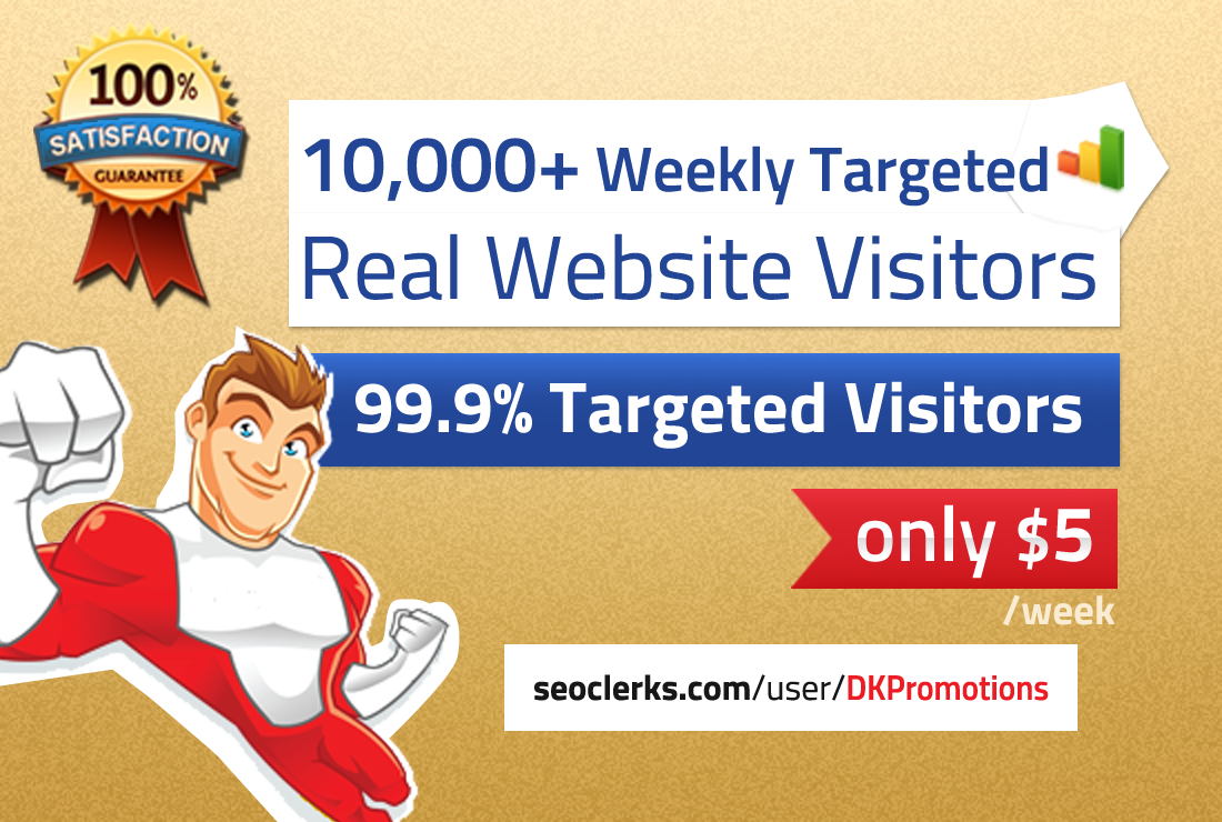 deliver 10,000 weekly TARGETED real visitors to your website