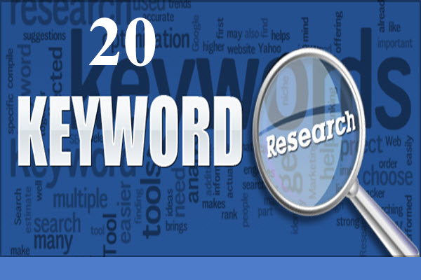 Best 20 Seo quality keyword research for your website...