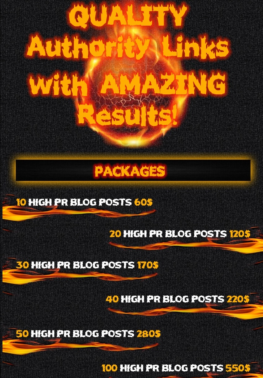 quality powerfull authority links 20 High PR Posts WI...