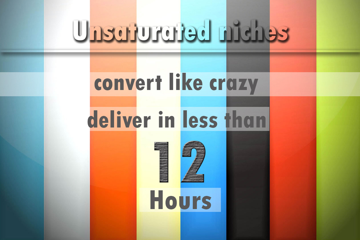 give list of newest profitable UNSATURATED niches tha...