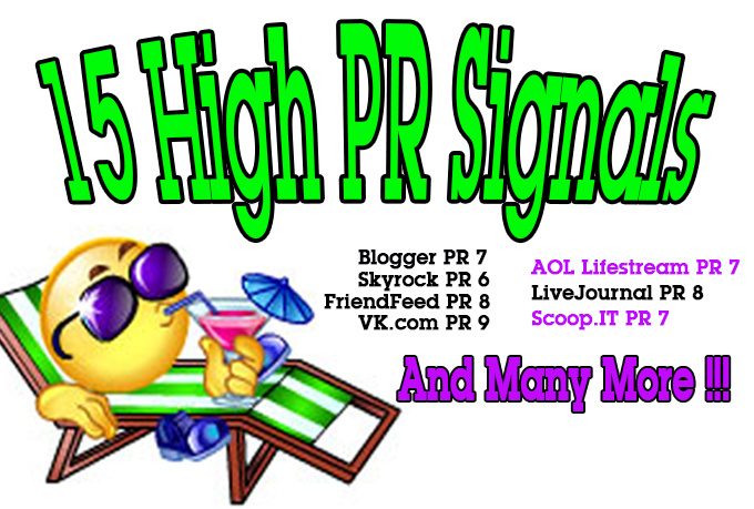 make 15 High PR Authority Whitehat Backlinks