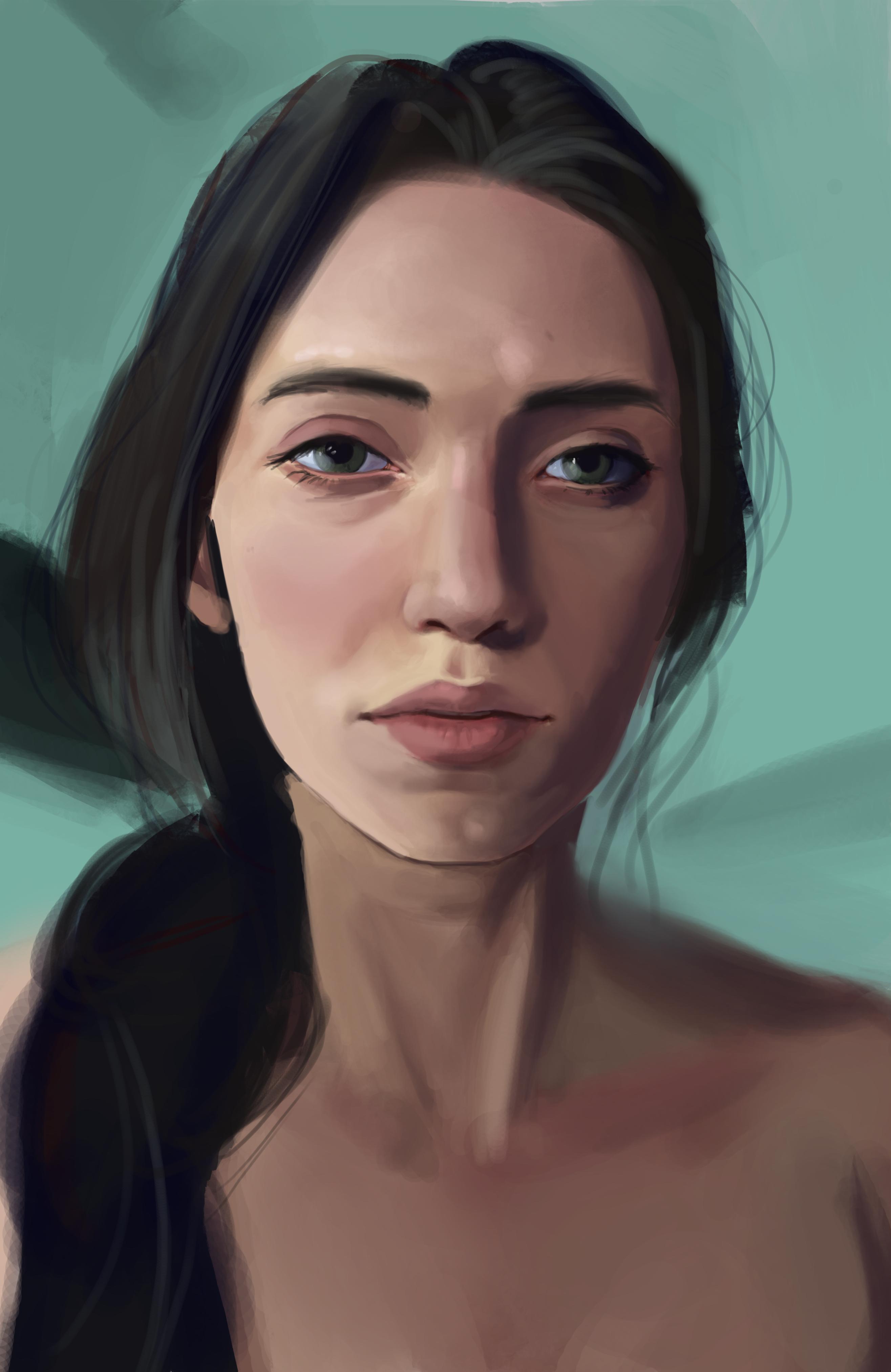 Digital portrait drawing of you
