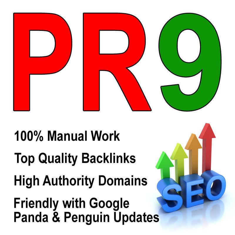 do manually 30 PR9 SEO Backlinks Best Quality High Pr Google dofollow edu and gov links