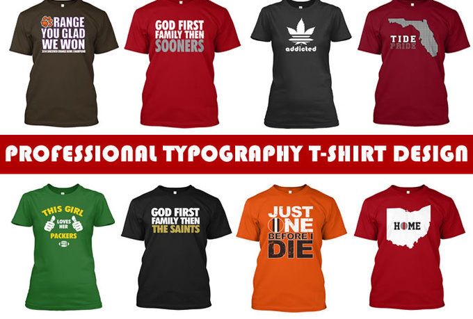 I will create a Professional Teespring Tshirt Design of any niche
