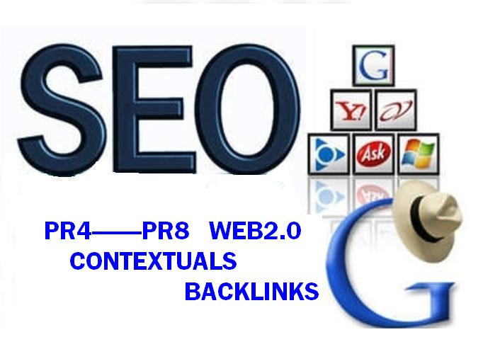 80 Contextual Backlinks from Pr8 to Pr4 Web 2 properties