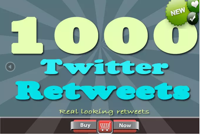 give you 1000 Genuine USA Re t weets on up to 5 your t weets for great Ads promote