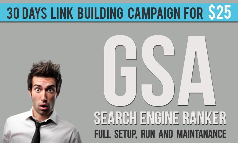 GSA SER 30 Days Link Building Campaign - Full Setup, Run and Maintanance