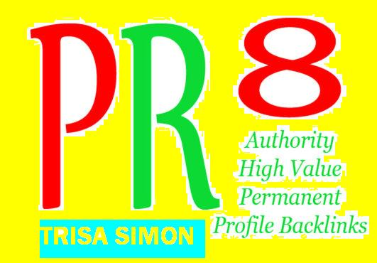 Manually do 30 PR8 or above manual backlinks for your...