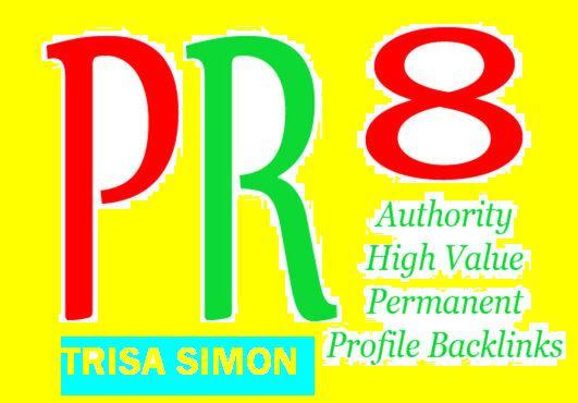 Manually Create 30 PR 6-PR 9 Backlinks from High Auth...