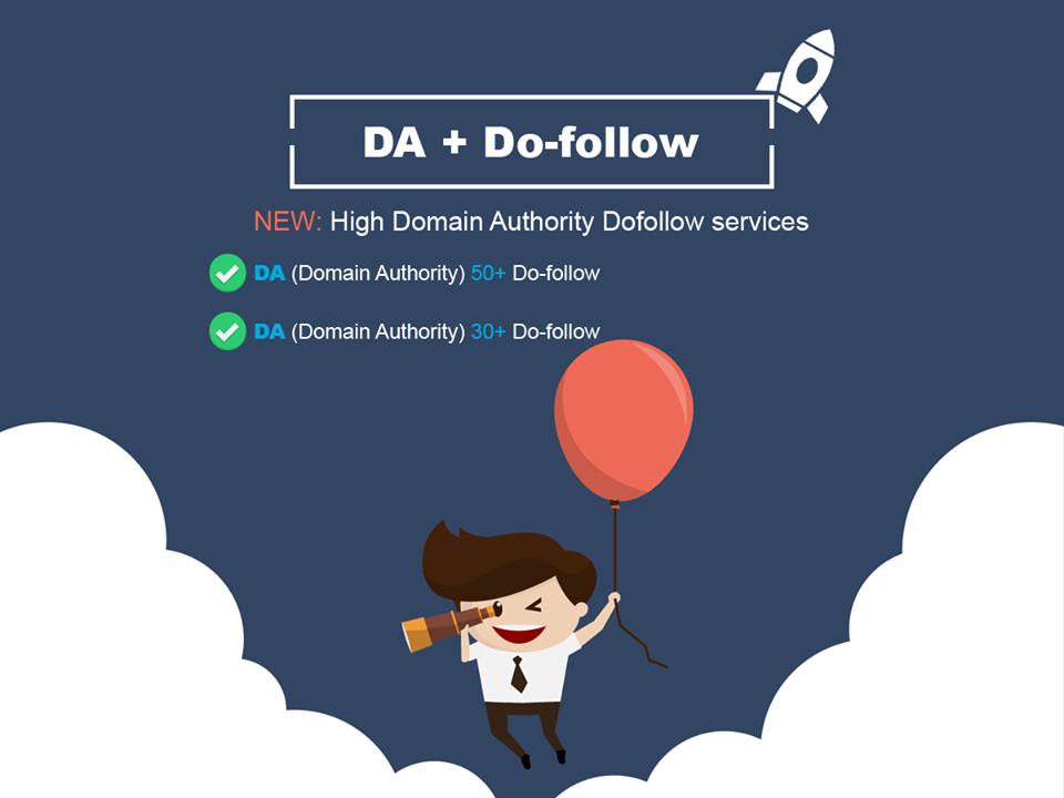 DA 50+,  30+ both are Do-follow backlinks
