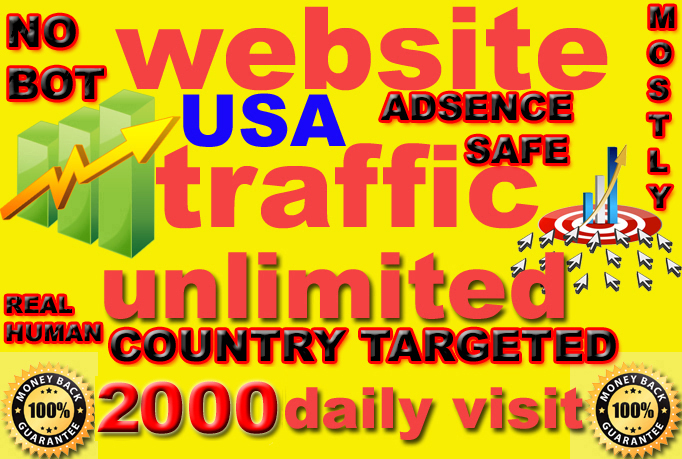 drive UNLIMITED daily real traffic to your website for 30 Days