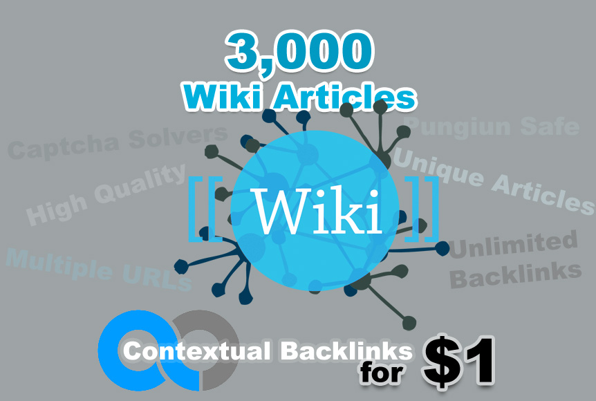 Unlimited Wiki Backlinks from 3,000 Wiki Articles