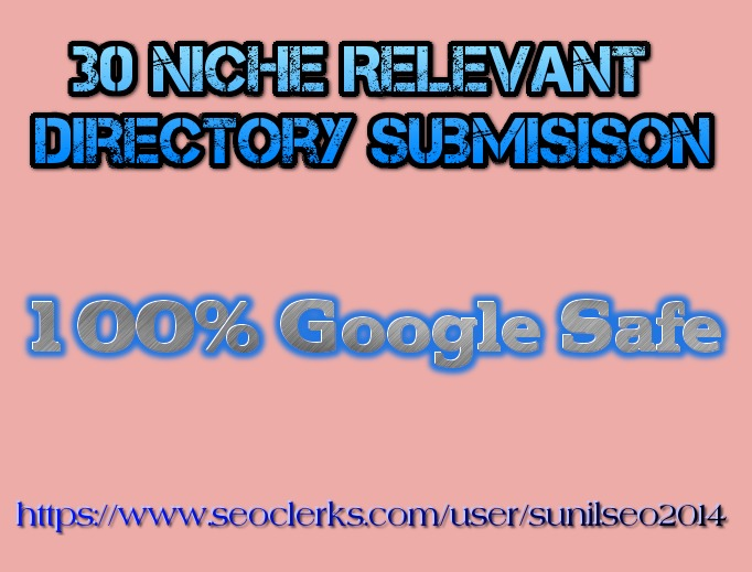 30 Niche Directory submission best for your SEO