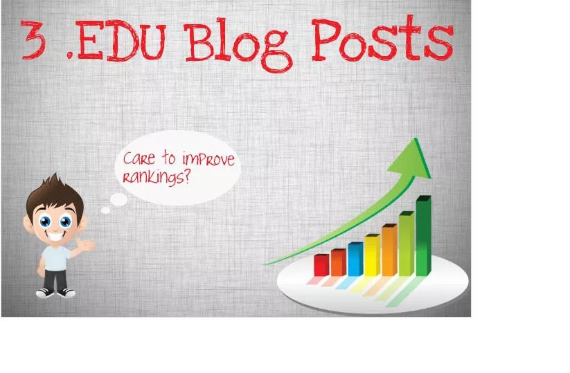 create 3 EDU Blog Posts