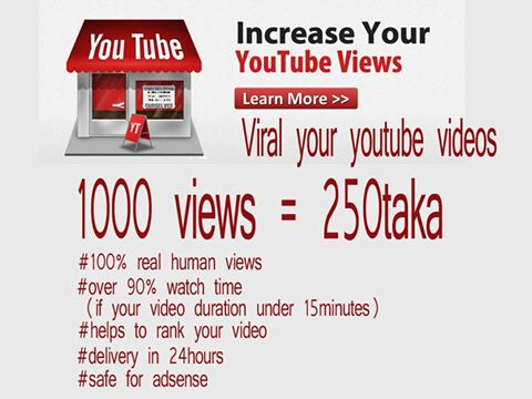 Add 1000+ Youtube Video likes only