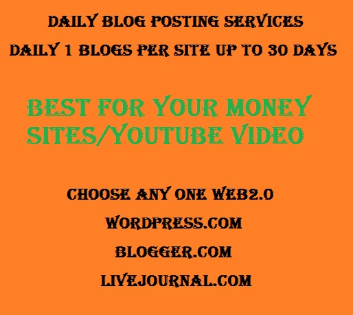 Daily Blog Posting for 30 days
