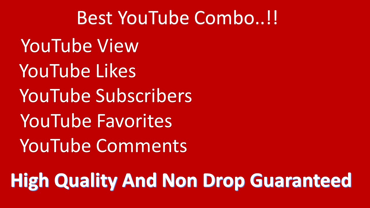 Organic NON DROP Premium Quality YouTube promotions
