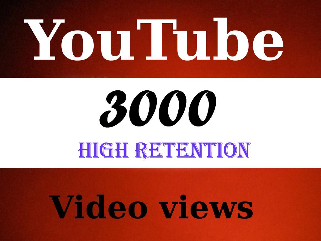 Give You 3099+ NON Drop + Splitable Youtube Views