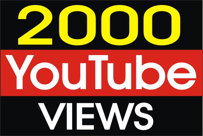 Give You 2099+ Youtube views With refill guarantee