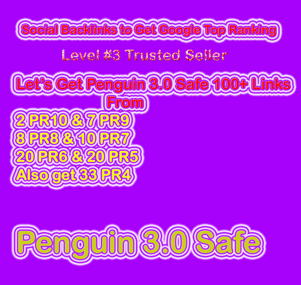 Get Penguin Safe Manual 100 Social Profile Backlinks DA70 - DA100 for Website & Video