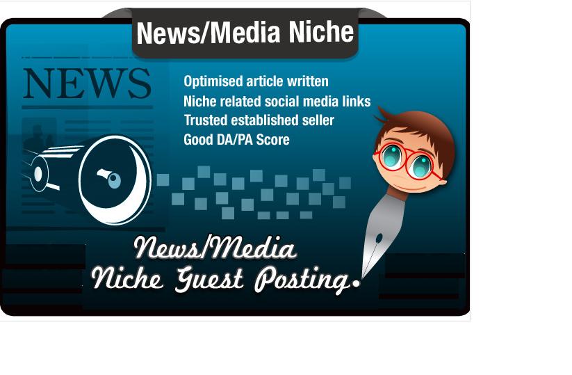 write and Blog Post a Media Niche Seo Optimised Artic...