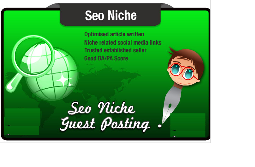 write and Blog Post an Seo Niche Related article on a...