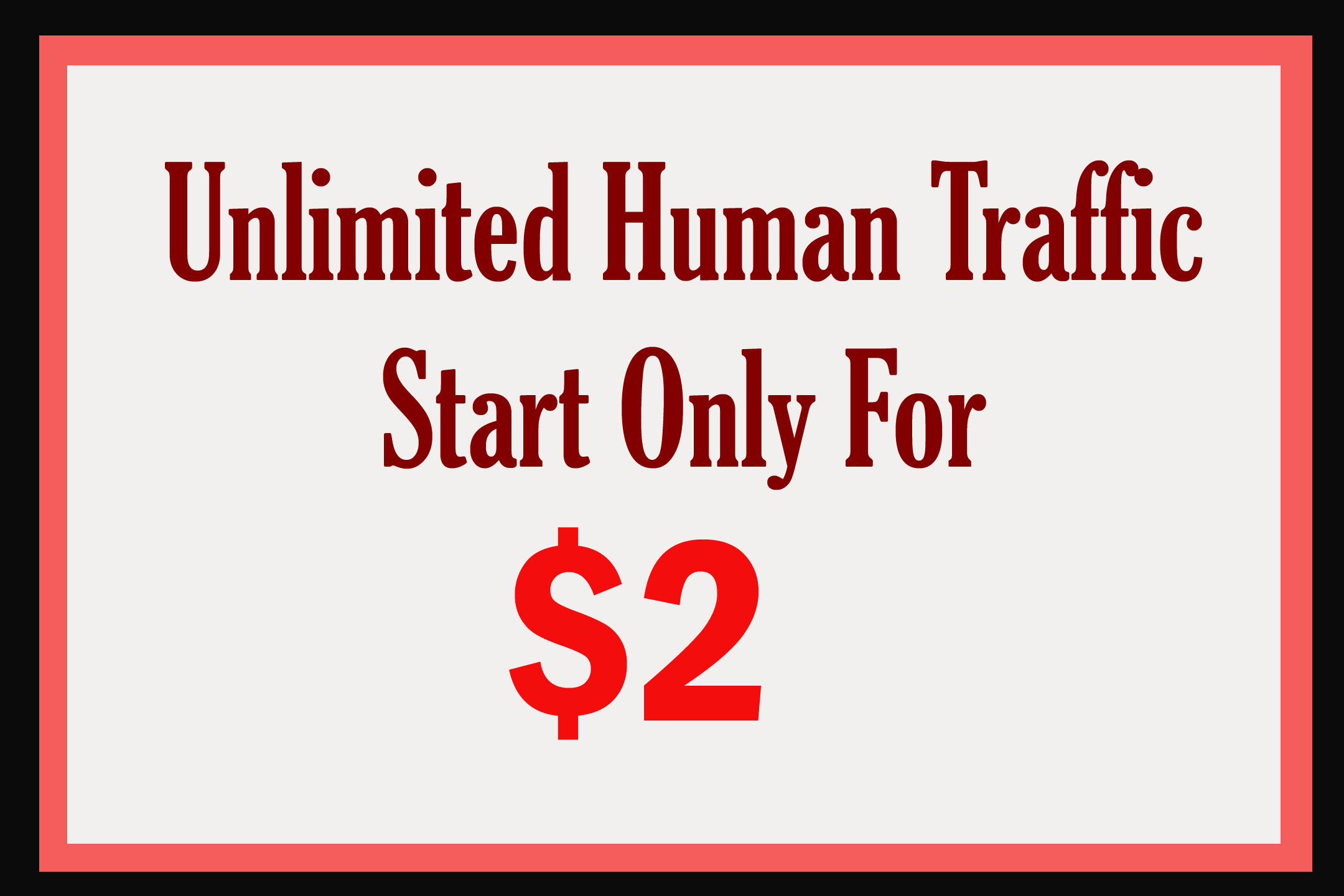 Start with real Website Traffic