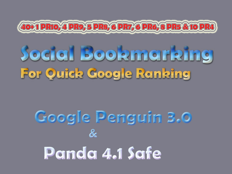 Manual 35 TOP Premium Social Bookmarking from Moz DA100 - DA40