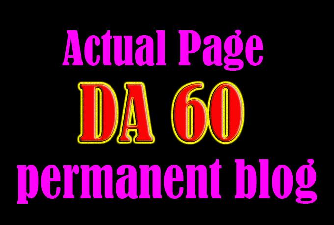 get permanent Dofollow link on DA60 20site Homepage blogroll Education niche website