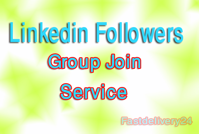 Add 1000 Linkedin Followers or group join