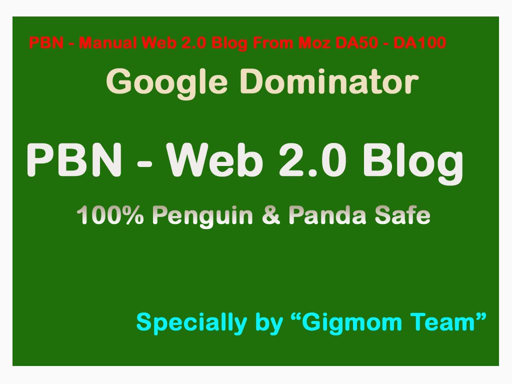 PBNs - Manually 30 Web 2.0 Blog Creation From Moz DA50 - DA100