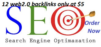 I will give you 12 web2.0 profile backlinks