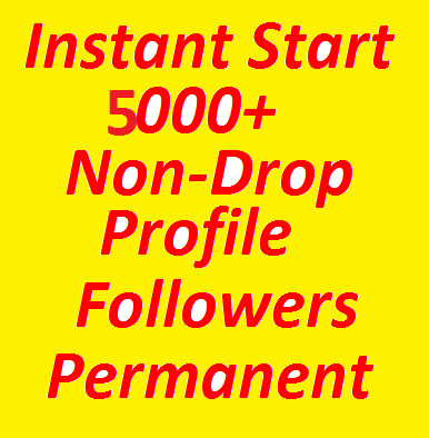 SUPER FAST 5000+ High Quality Profile Followers Fully Safe