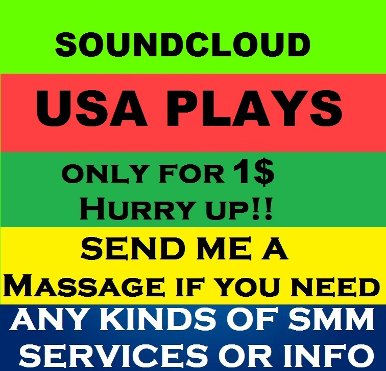 Get Fast 3,00,000 Worldwide Or 50,000 USA  Soundcloud Plays