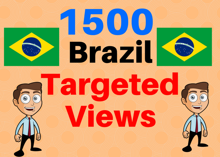 1500 BRAZIL TARGETED traffic to your web or blog site...