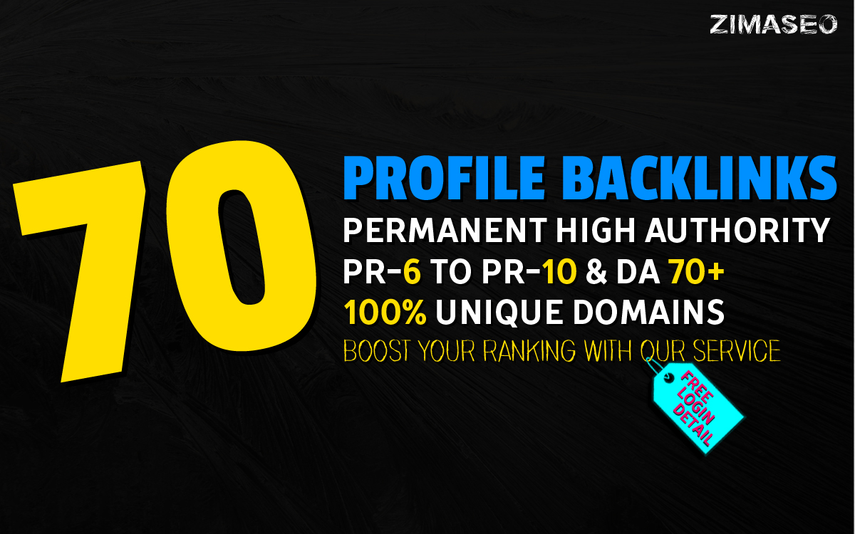 Permanent 70 High Quality PR10 to PR6 High PA, DA Backlinks