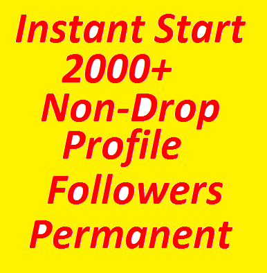 Super Fast 2000+ High Quality Profile Followers Fully...