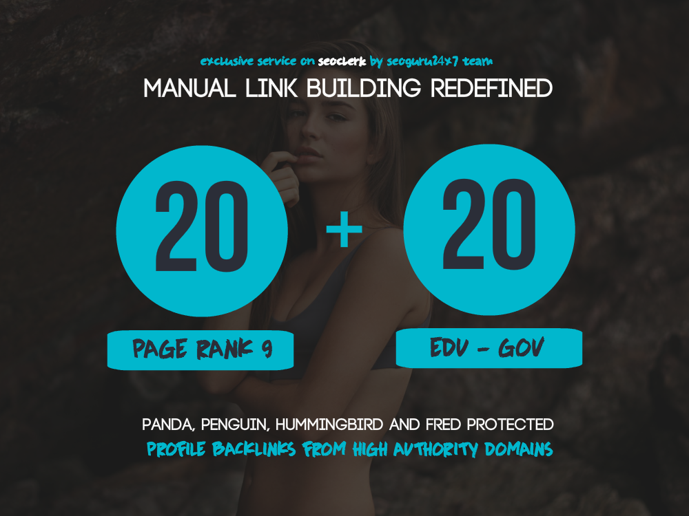 20 PR9 + 20 .EDU - .GOV Backlinks From Authority Domains