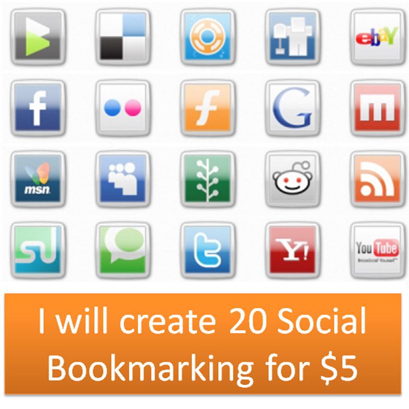 I will create 20 Social Bookmarking for
