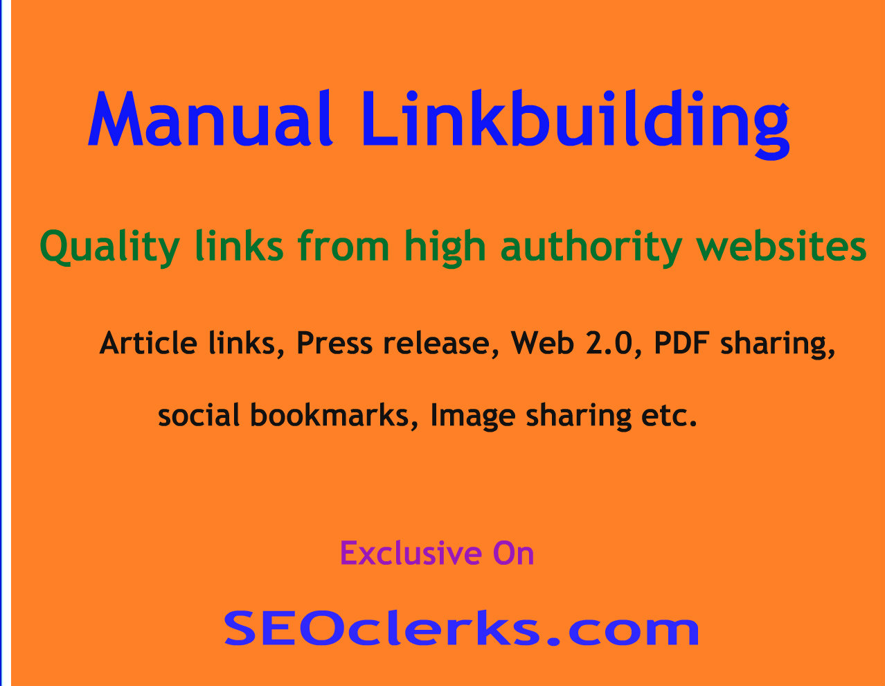 Manual linkbuilding for your website