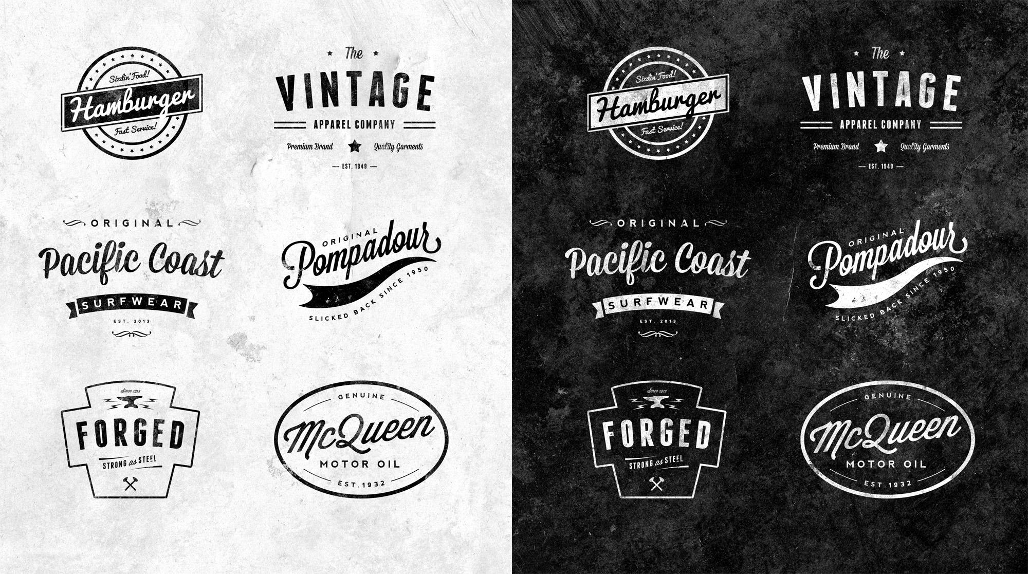 Will I Will Retro Vintage Logo For 20 Graphics Amp Logos