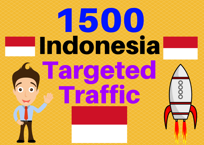 1500 INDONESIA TARGETED Human traffic to your web or blog site Get Adsense safe Good Alexa rank